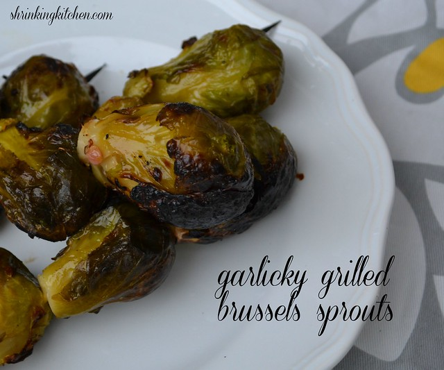 garlicky grilled brussels sprouts