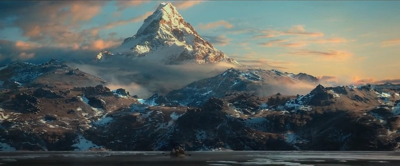 The Desolation of Smaug mountain