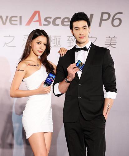 HUAWEI Ascend P6形象大使王思平與錦榮搶先分享HUAWEI Ascend P6 的極致美型時尚智慧體驗