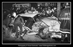 1974-03 - Police Car/Taxi Cab Accident, Woodbury Road, Hicksville, NY