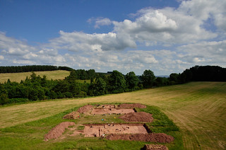 The excavation site at Dorstone Hill near Peterchurch in Herefordshire