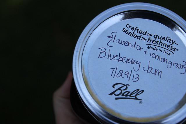 lavender + lemongrass blueberry jam