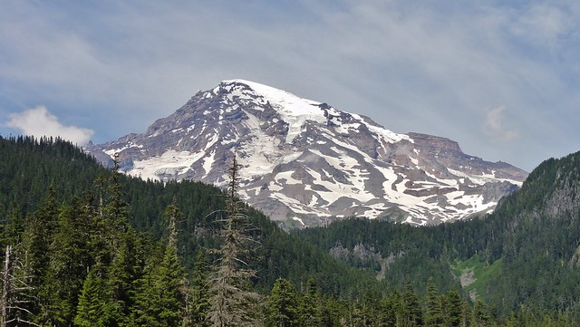 Mount Rainier from the Nisqually River.