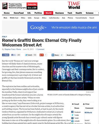 Rome's Graffiti Boom: Eternal City Finally Welcomes Street Art by OMINO71