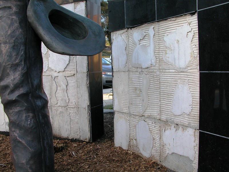 Ronald Reagan Sports Park Monument - Vandalized!