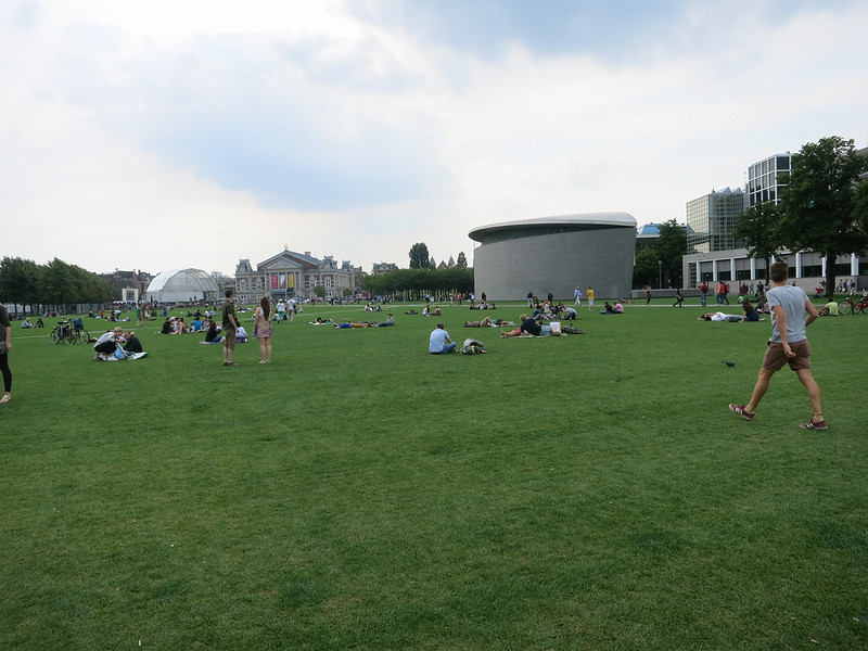 Open lawn in the museum quarter.