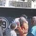 Mariano Rivera hugs Rachel Robinson