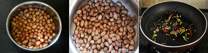 How to make peanut sundal - Step1