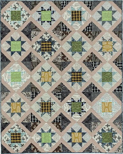 Lattice of Stars - from Becoming a Confident Quilter