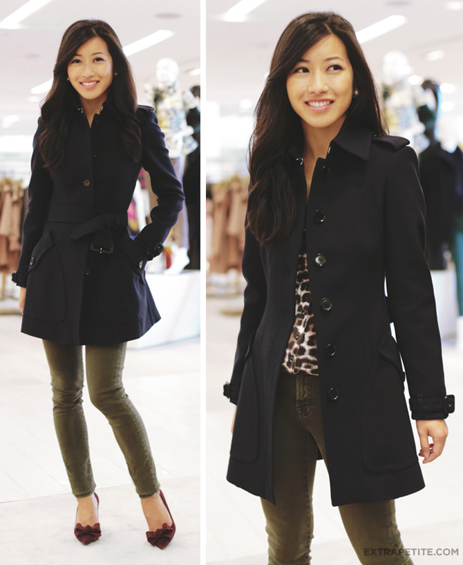 saks burberry coat