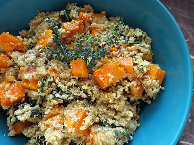 roasted and caramelized autumn quinoa