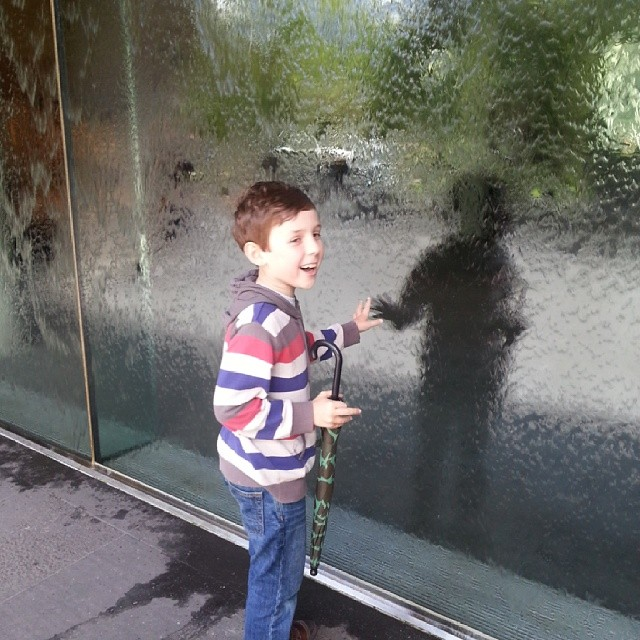 Sean meets the water wall #curriculumday #melbourne #ngv