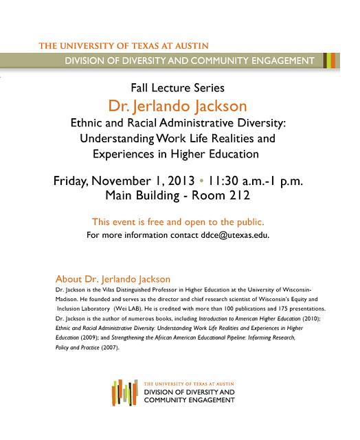 Jerlando Jackson Lecture Invite