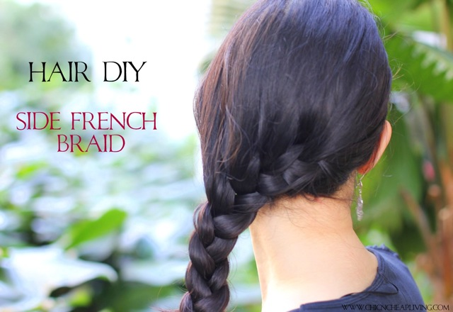 Side braid close up by Chic n Cheap Living