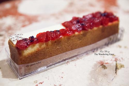 Vanilla rhubarb cake