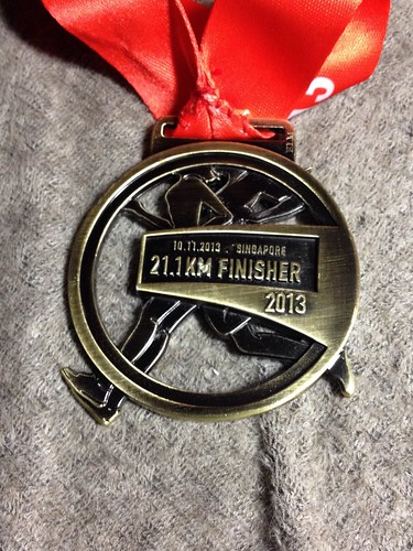 Great Eastern Women's Run 21.1 km Finisher medal by HerodotusX