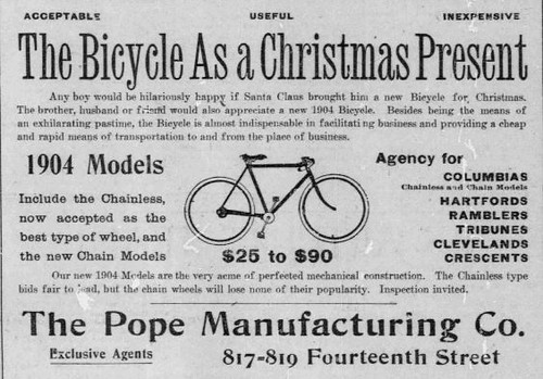 1904 Christmans Bike Ad