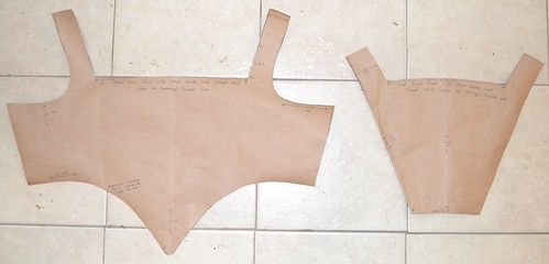 Bodice pattern after mods, 16th century kirtle on MorganDonner.com