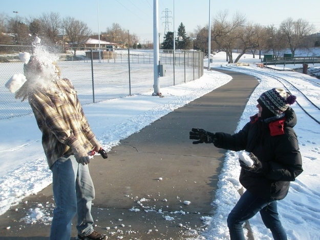 The perfectly timed snowball picture: