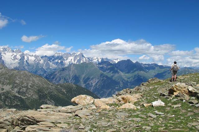 on the peak near Lac du Fond