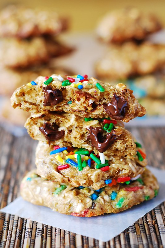 low fat Banana oatmeal chocolate chip cookies recipe, low fat cookies, skinny cookies, skinny recipes, low fat recipes