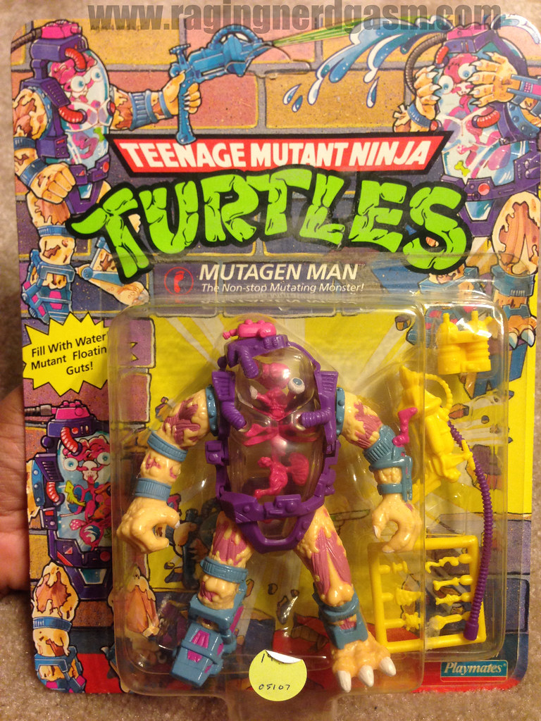Vintage TMNT Teenage Mutant Ninja Turtle Carded Mutagen Man
