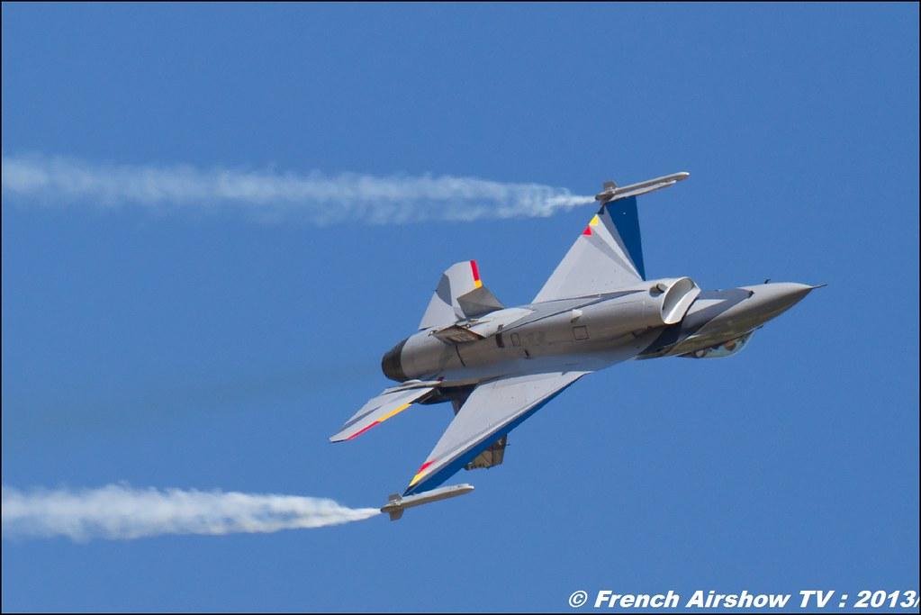 F-16 Solo Display Belge, 60 ans Patrouille de France , Meeting Aerien 2013