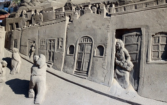 presépio enorme de areia