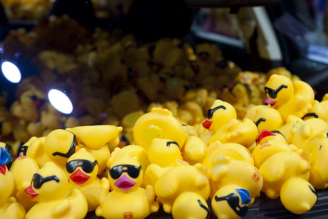 Rubber Duck-Filled Car at the Chicago Auto Show 2009
