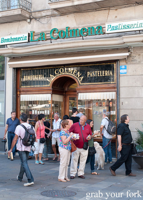 Pasteleria La Colmena bakery and patisserie on Placa de l'Angel in the Gothic area of Barcelona