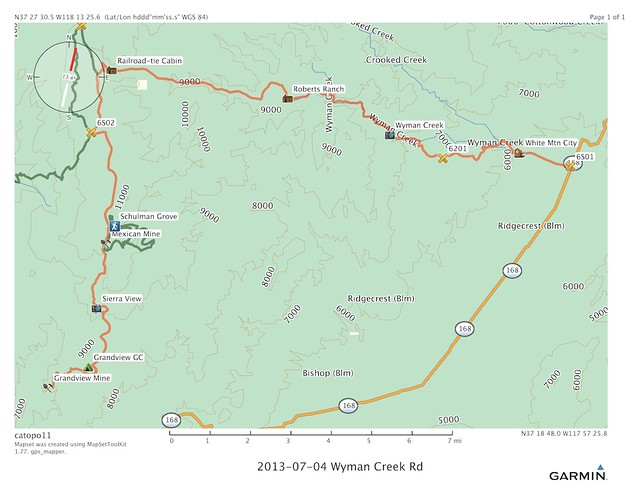 Wyman Creek Road, July 4-7, 2013