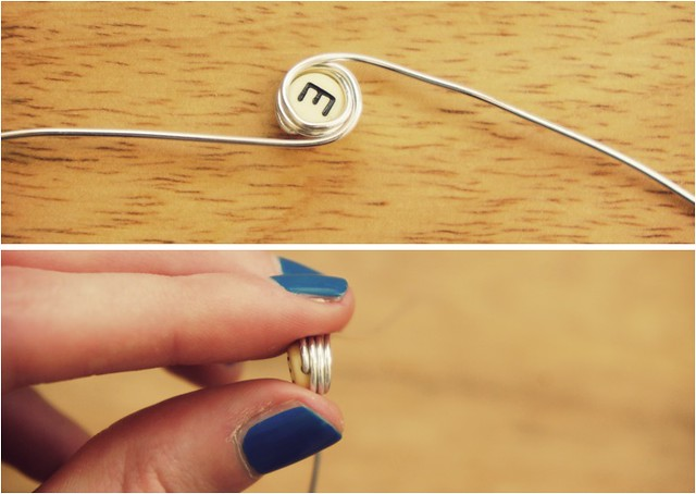 diy monogram earrings 3