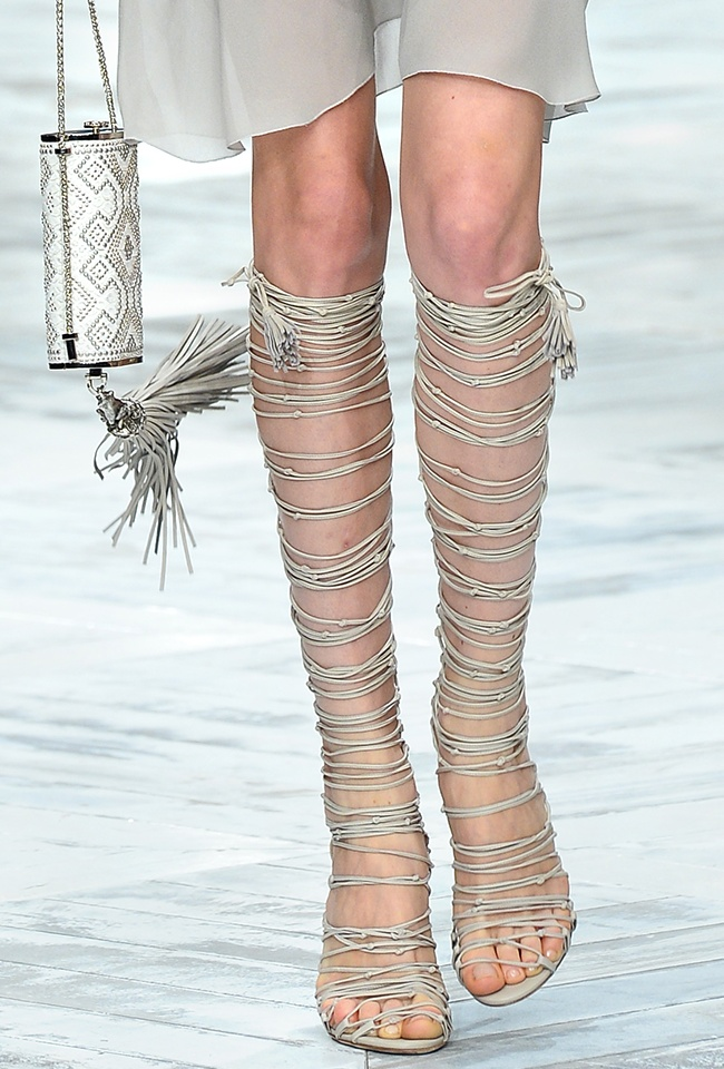 7 Roberto Cavalli SS 2014 Lace up Sandals
