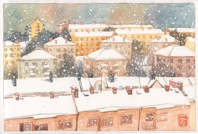 Aspudden, Stockholm in snow