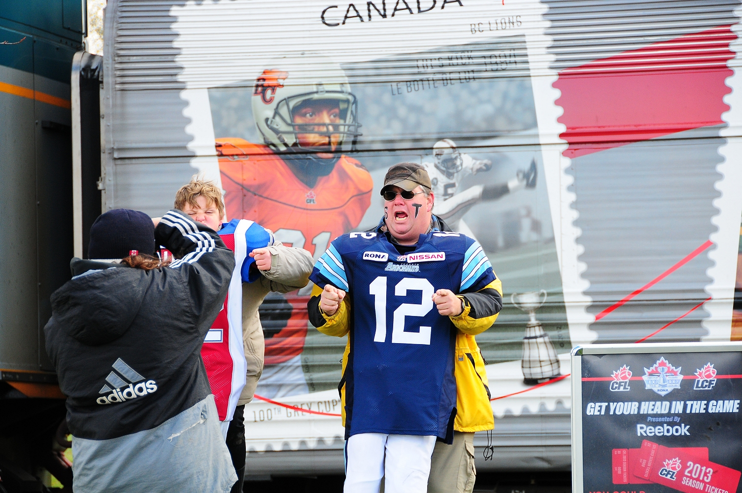 CFL Train Comes To Sarnia