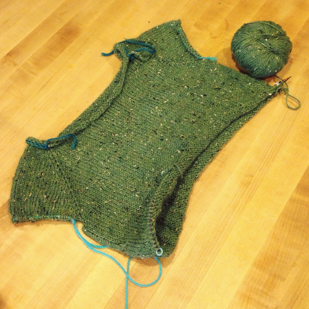 Starboard Sweater knitting progress