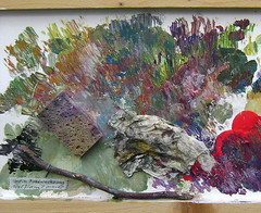 B 12.4 Besen-Malerei: Part of Palette - Zu eng, Palettenteil