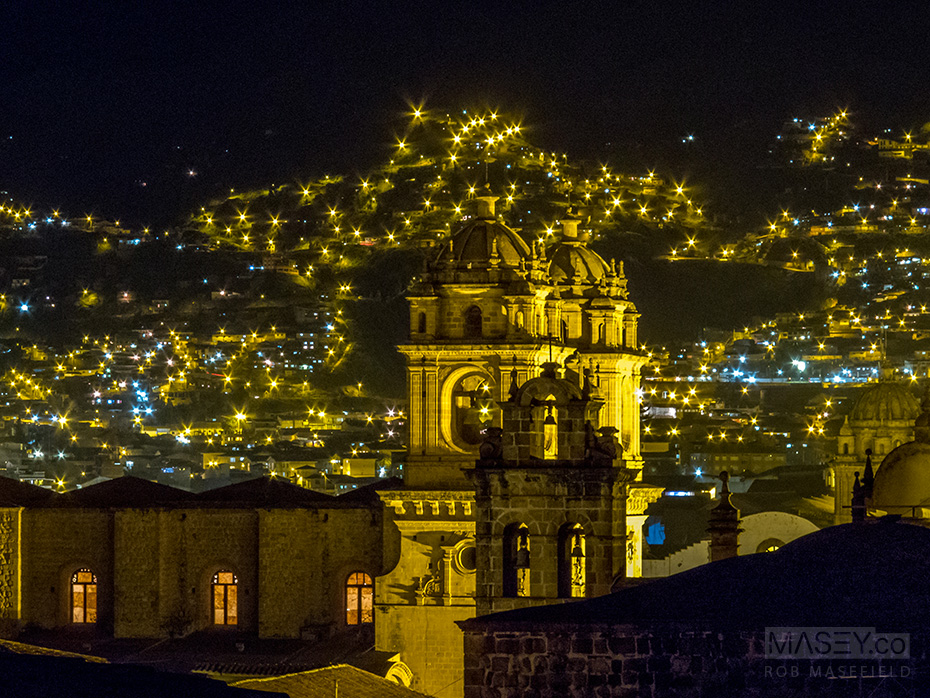 Up on the roof, Cuzco was sparkling...