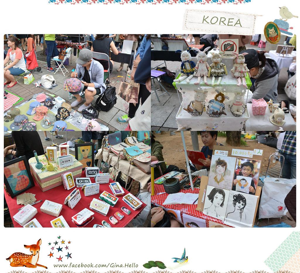 [遊記] 韓國創意的年輕天堂。周六弘大的自由市集