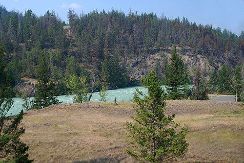 Chilcotin River in Bull Canyon Provincial Park, Alexis Creek, Highway 20, Chilcotin, British Columbia, Canada