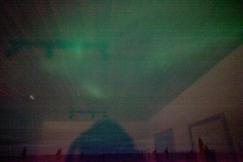 今晚在房裡看到的極光