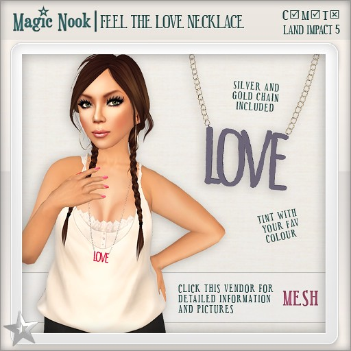 [MAGIC NOOK] Feel The Love Necklace MESH