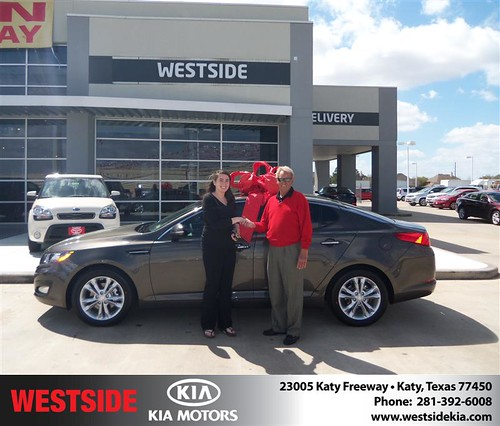 Happy Anniversary to Jessica Prado on your 2013 #Kia #Optima from John Buchan  and everyone at Westside Kia! #Anniversary by Westside KIA