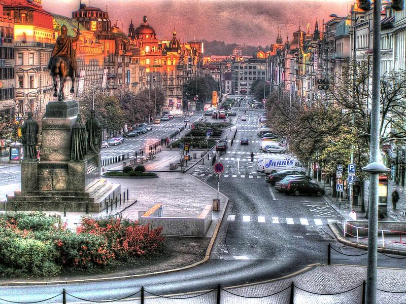 Prague Wenceslas Square, The Czech Republic