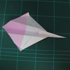 วิธีพับกระดาษเป็นรูปเครื่องบินแบบบินไกล (SST Origami Airplane) 017
