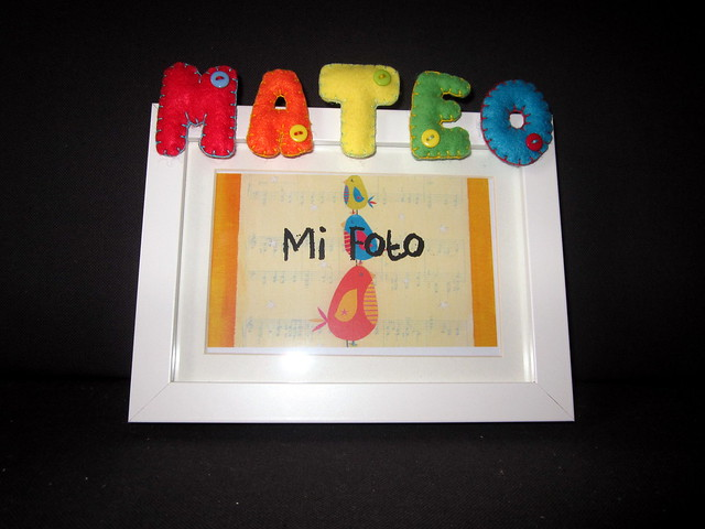 Marco de fotos personalizado - Mateo