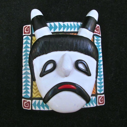 Clown Kachina Mask/Bracelet tile/Pendant