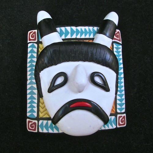 Clown Kachina Mask/Bracelet tile/Pendant