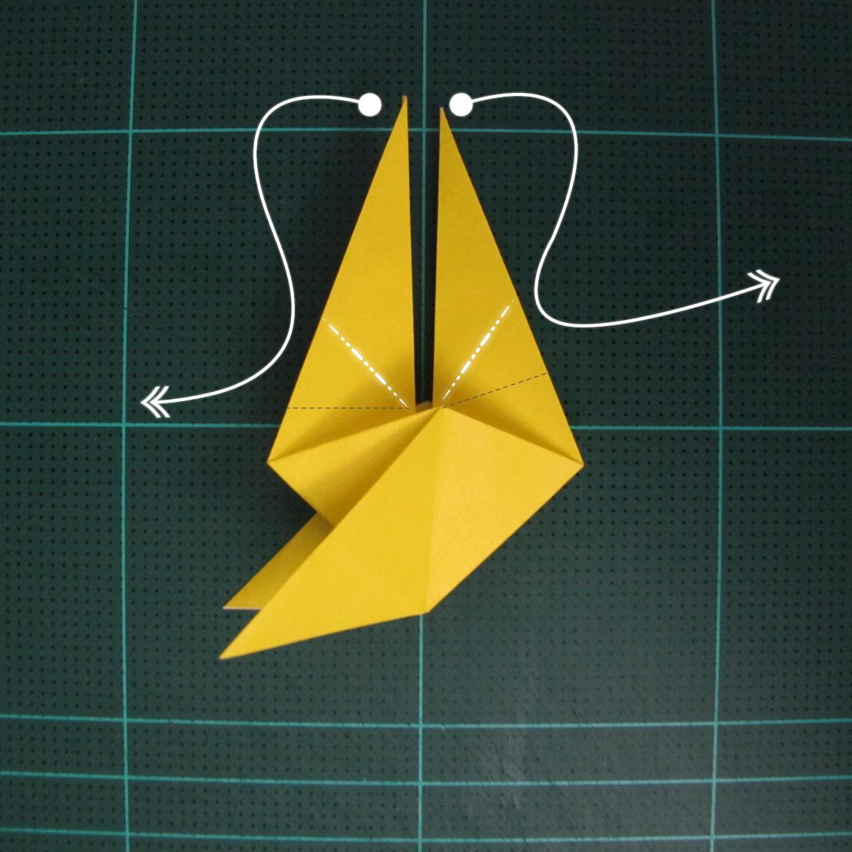 การพับกระดาษเป็นรูปไก่ (Origami Rooster) 006