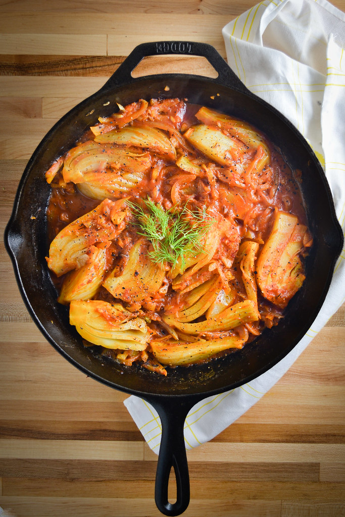 Braised Fennel Wedges with Saffron and Tomatoes | Things I Made Today